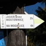 Drogowskaz na Przełęczy Przysłop