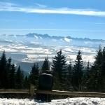 Panorama Tatr z przed schroniska na Turbaczu