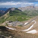 Widok z przełęczy Col du Galibier 2645 m