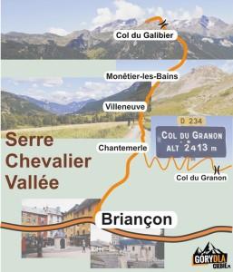 Schemat doliny Serre Chevalier