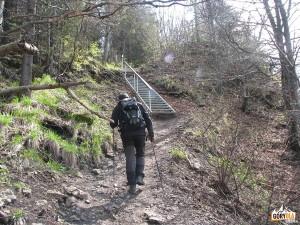 Wejście na szczyt Wysokiej 1050 m