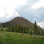 Wysoka 1050 m widziana z Przełęczy pod Wysokymi Skalkami