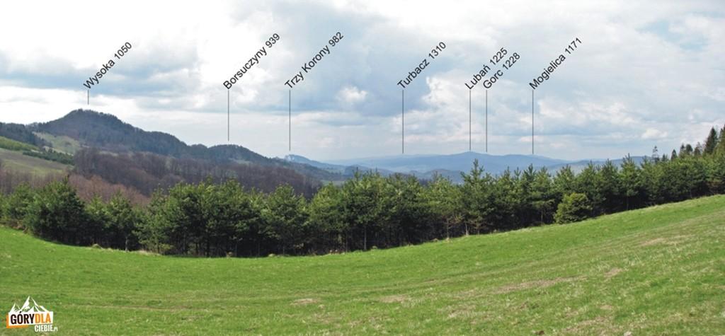 Panorama spod Watriska 960 m