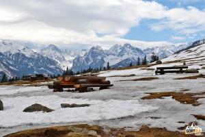 Widok z Rusinowej Polany w Tatrach