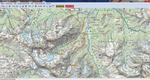 Mapa Tatr wAplikacji SeeMap (PC)