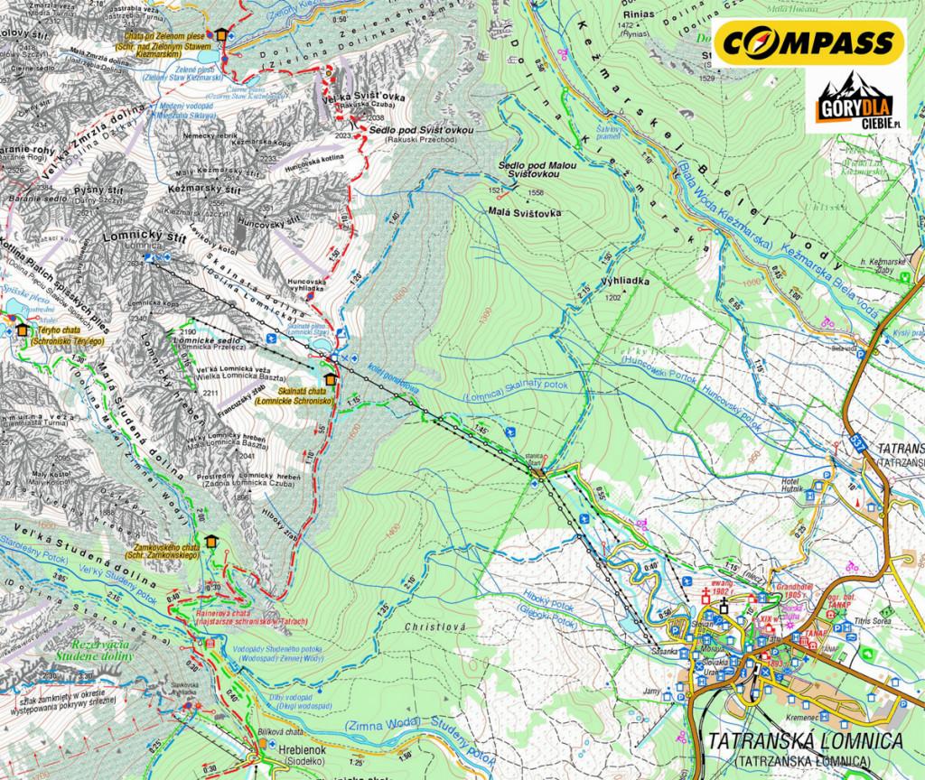 Dolina Łomnicka - mapa