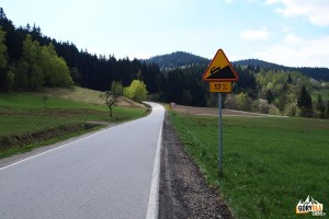Podjazd na Przełęcz Słopnicką