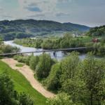 Podjazd wzdłuż malowniczego Dunajca