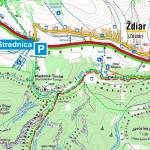Parking na Strednicy koło Zdziaru - mapa
