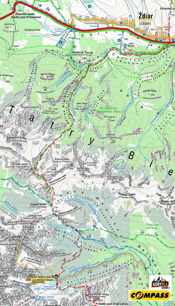 Tatry Bielskie - Mapa