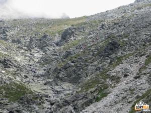 Podejście na Lodową Przełęcz (słow. Sedielko) 2372 m n.p.m.