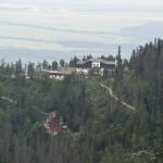 Widok z czerwonego szlaku Magistrali na Hrebienok