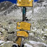 Skrzyżowanie szlaków w Lodowej Dolince