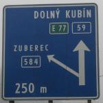 Podbiel - skręcamy w lewo na Zuberec