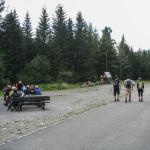 Sindlovec - w lewo na zielony szlak do parkingu