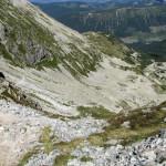 Zejście z Banikowskiej Przełęczy do Doliny Spalonej (Zielonej)