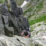 Uskok przy zejściu z Rohacza Ostrego na Rohacką Przełęcz