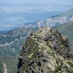 Szczyt Rohacza Ostrego - widok z Rohacza Płaczliwego