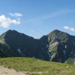 Rohacze: Ostry 2088 m i Płaczliwy 2125 m - widok z Rakonia 1879 m