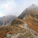 Rohacz Ostry - widok z Rohackiej Przełęczy