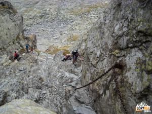 Wspinaczka w Strunga Dracului ( Czarci Żleb)