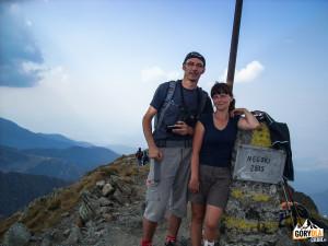 Na szczycie Negoiu (2535 m)