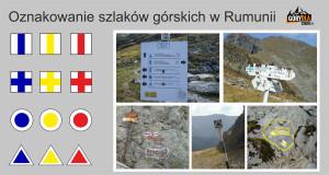 Oznakowanie szlaków górskich w Rumunii