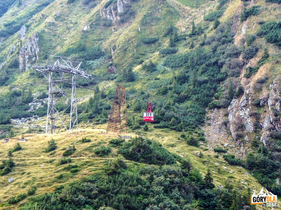 Kolejka linowa nad Drogą Transfogarską