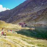 Jezioro Bâlea Lac (2037 m) w najwyższym punkcie Drogi Transfogarskiej
