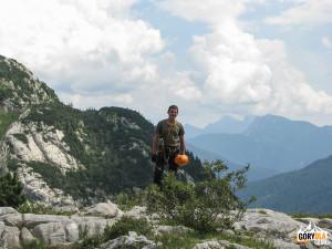 Cellonschulter, mały płaskowyż nad wyjściem z Cellonstollen