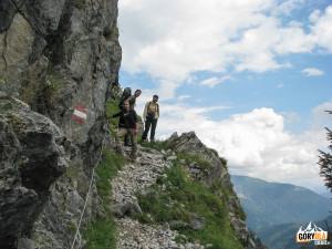 Zejście ścieżką z Cellonschulter