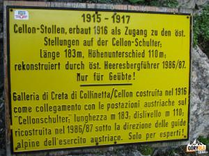 Tablica przed wejściem do sztolni Cellonstollen