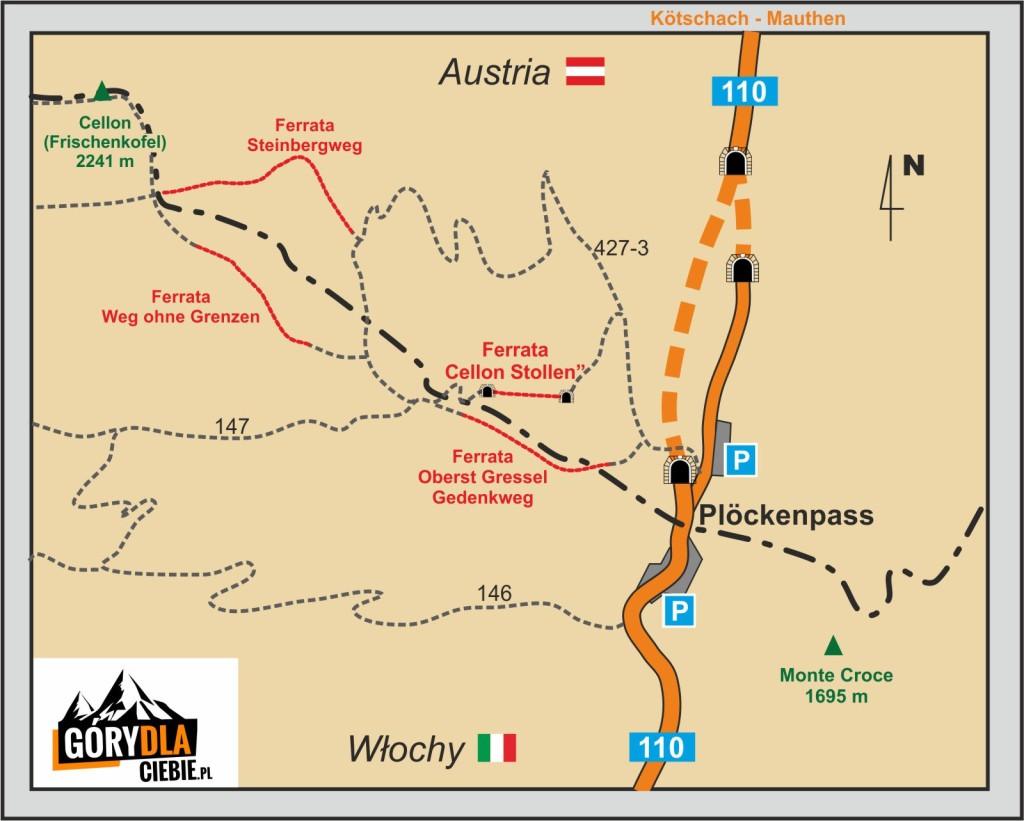 Plockenpass - plan
