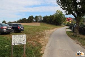 Parking w przysiółku Pcim – Kudłacze