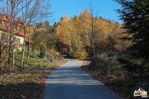 Droga z Przełęczy Gruszowiec do Młodzieżowego Ośrodka Rekolekcyjnego na Śnieżnicy