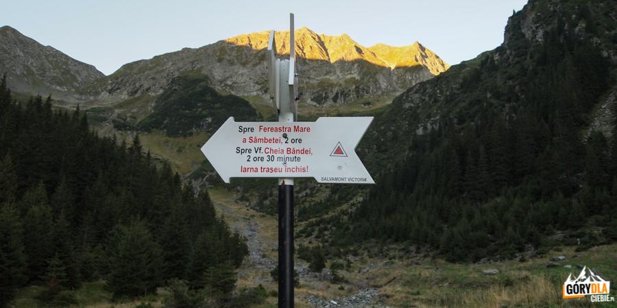 Szlakiem czerwonych trójkątów na główną grań Fagaraszy.