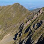 Widoki z głownej grani Fogaraszy w rejonie Galbenele (2456 m)