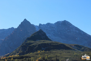 Mały Kościelec i Kościelec widziany z Doliny Gąsienicowej, z prawej Świnica