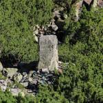 Kamienny obelisk upamiętniający miejsce śmierci Mieczysława Karłowicza