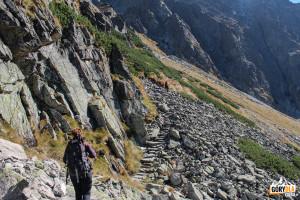 Kamienna ścieżka (żółty szlak) na Skrajny Granat
