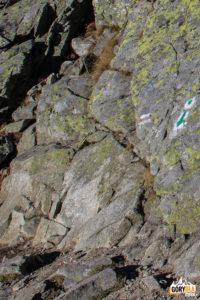 Poczatek zielonego szlaku z Zadniego Granatu do Koziej Dolinki