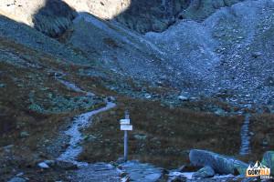 Kozia Dolinka - zielony szlak na Zadni Granat, czarny do Żlebu Kulczyńskiego