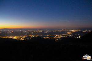 Zachód słońca - widok z Przełęczy między Kopami na Babią Górę, Zakopane i okolice