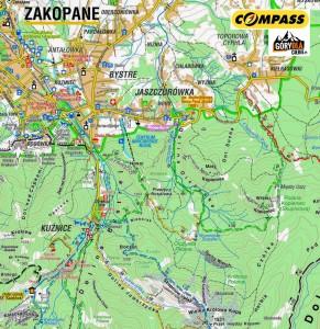 Kuźnice - Dolina Jaworzynka - mapa