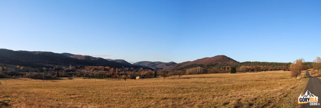 Beskid Niski - panorama z drogi z Hańczowej do Skwirtnego