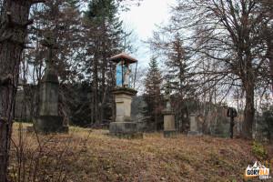 Figura i krzyże łemkowskie w Radocynie - Beskid Niski