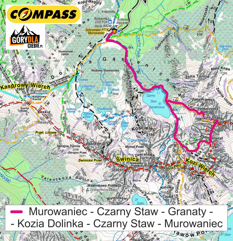 Granaty - mapa