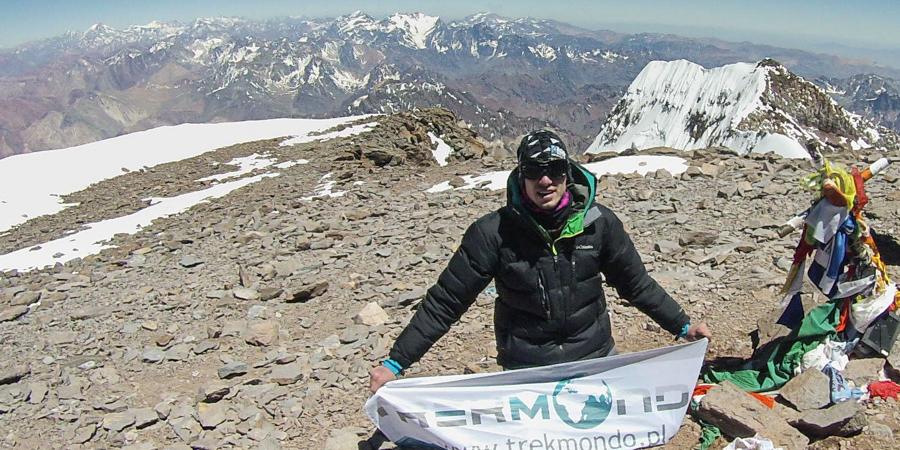 Na szczycie Aconcagui