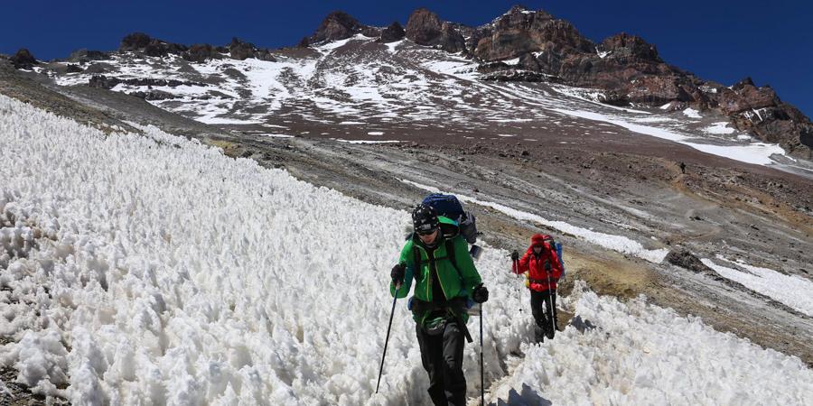 Zejście doBase Campu na4300 m