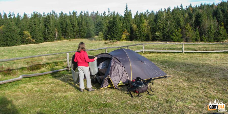 Baza namiotowa na Lubaniu